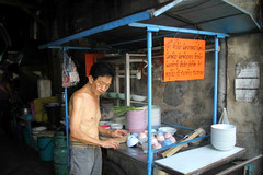 Krung Thep, the city of angels (fredcan) Tags: street travel man work asian thailand soup asia southeastasia bangkok cook streetlife thai streetfood foodstall krungthep thecityofangels fredcan