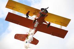 Grumman G164 Wing walking...literally! At Daytona Airshow - Florida USA (lexster76) Tags: plane outdoor airshow daytona flugzeug avion stunt vliegtuig grumman wingwalker genesoucy teresastokes grummang164 g164 hellerhintergrund wingwalkgin