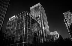 Canary Wharf. (fjnige) Tags: windows sky blackandwhite london monochrome skyscraper nikon sigma canarywharf canadasquare