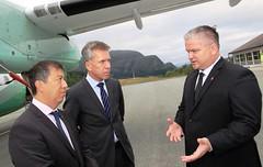 EASA-leder p besk i Norge (Samferdselsdepartementet) Tags: regelverk luftfart kortbanenettet