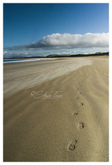 Footprints in the sand (Stevie Toye) Tags: ireland colour beach nature water beautiful landscape seaside sand nikon colorful footprints sharp 1855mm dslr donegal ulster d3200