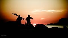 u suli spunta pi tutti (Angelo Trapani) Tags: mare alba sole palermo pesca luce remi mattino pescatori santerasmo