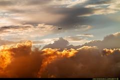 Burningclouds. (jongoikoh) Tags: sky airplane landscape cielo stuff machines pilot airscape zerua avioneta aviacion euskal herria burningclouds profesion fireclouds