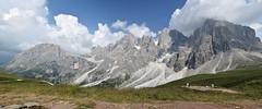 Widok na Pale z Passo Costozza