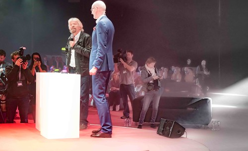 RICHARD BRANSON LAUNCHES VIRGIN MEDIA AT THE RDS [UPC REBRANDED AS VIRGIN]REF--10858499