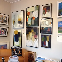Photo of A look at my work hanging in the wonderful @wadebridgeart #art #gallery Go visit if you are near. :) #Cornwall #artistsofinstagram