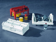 EAGLE 02 LEGO ((K_A) King_Arthur) Tags: show moon lune one tv noir lego eagle space 1999 modular scifi spaceship alpha moonbase ideas cosmos spacecraft transporter aigle