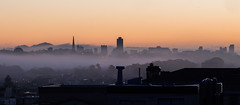 Be It Ever So Humble (eekim) Tags: sanfrancisco fog skyline sunrise photoaday mtdiablo transamericabuilding day293 365project karlthefog