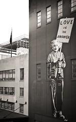 Love Is the Answer (AlainC3) Tags: nyc streetart newyork love nikon einstein artderue d90