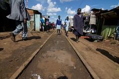Kibera slum (DJ_Hoffman) Tags: poverty africa railroad urban children photography nikon kenya nairobi streetphotography economy kibera slum developingcountry economicdevelopment documentaryphotography