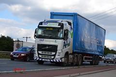 Volvo FH4 'A.K.P Transport' reg YN14 PFG (erfmike51) Tags: lorry artic curtainside euro6 volvofh4 akptransport