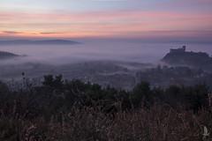 Alba dal monte (_milo_) Tags: italy sunrise canon eos italia alba nebbia manfrotto angera 18135 treppiede 60d