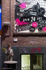 Smoking break (Streetphotography by Joost Smulders) Tags: city people urban woman holland color colour bottle rotterdam break candid nederland streetphotography smoking vrouw stad drank fles roken mensen kleur pauze straatfotografie