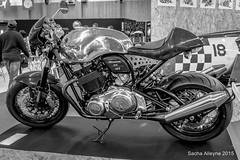 Salon de la Moto 2015 - Norton Dominator SS (Sacha Alleyne) Tags: show blackandwhite bw vintage motorbike moto motorcycle portedeversailles 2015 salondelamoto a6000 sonya6000