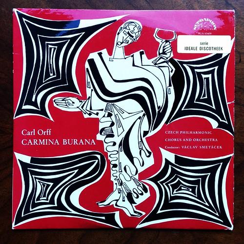 Orff - Carmina Burana - Milada Subrtova, Teodor Srubar, Jaroslav Tomanek, Czech Phil. Chorus & Orch., Josef Veselka & Vaclav Smetacek, Supraphon SUA 10409, 1961