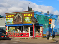 Beaver House (altfelix11) Tags: minnesota cookcounty grandmarais northshore lakesuperior beaverhouse fishing baitshop bait lure beaverflicks mural giantfish
