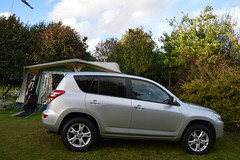 Our New Car Toyota Rav 4 with our Caravan Behind (John Carson Essex) Tags: thegalaxy thegalaxystars supersix
