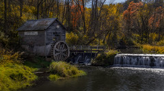 Hyde's Mill (Paul Domsten) Tags: hydesmill wisconsin waterfall mill rural autumn fall pentax colors water creek river decay landscape outdoor serene tranquil 1850 rustic trees longexposure history stone dam