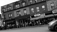 In Line (Ennev) Tags: street blackwhite epl5 stlaurent montreal olympuspen olympus outdoor plateau urban