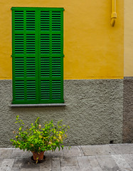 Alcudia OldTown, Majorca, Spain. (CWhatPhotos) Tags: cwhatphotos camera photographs photograph pics pictures pic picture image images foto fotos photography artistic that have which contain with olympus four thirds 43 spanish spain mallorca majorca island october 2016 weather alcudia wall abstract windows square color colors colour colours view lines straight line vertical horizontal shutter shutters building buildings architecture colorful colourful shapes balearic islands mediterranean balearics