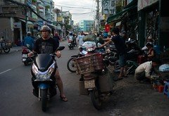 . (Out to Lunch) Tags: bike street saigon vietnam color leica me wide angle