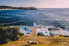 'Dave' by Cathyann Coady (Leighton Wallis) Tags: sony alpha a7r mirrorless ilce7r 1635mm f40 emount bondibeach tamarama sydney nsw newsouthwales australia sculpturebythesea 2016 sxsbondi2016 fatman statue dave cathyanncoady