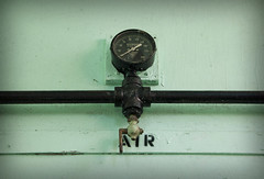 """Air"" (ac-marie) Tags: train temperature air measurement pipe pipes green rustic"