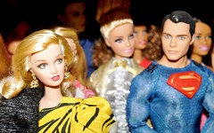 Getting Attention (farmspeedracer) Tags: barbie superman doll toy collector man woman love sight romance