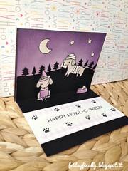 Boooooo! LF halloween pop up card 3 (fridayfinally) Tags: lawnfawnstamp lawnfawndies lawnfawn lawnfawnstamps happyhowloween happyhalloween copic copicmarkers copics distressink nightsky starrynight boooooo dachshund dogs dog superhero mummy witch black violet purple ginghambackdrops winkofstella interactivecard popupcard