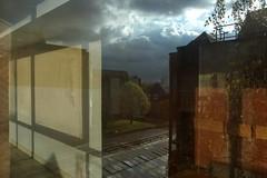 sun4 (lux fecit) Tags: paris saintlouis hospital reflet reflection window sun walls tree storm sky clouds
