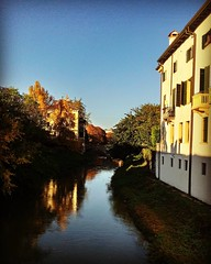 Clear (pulfabio) Tags: instagramapp square squareformat iphoneography uploaded:by=instagram hefe pontesangiovannidellenavi padova padua italy autumn colors river trees fall sky