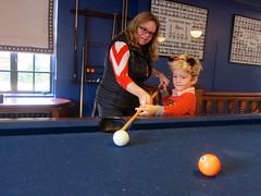 Everett & Mommy Playing Pool In Cloister (Joe Shlabotnik) Tags: 2016 princeton cloisterinn billiards pool princetonuniversity october2016 sue everett proudparents 60225mm faved