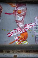 Nightmarish Clown by Produkt (ur.bes) Tags: 600 600d eos aerosol art artwork canada canon cans cap dessin draw fat fresque graff graffiti lettering lettrage mural murals paint painting peinture quã©bec sherbrooke spray street streetart style tag tags urbain urban wall walls work hdr high dynamic range clown killer psycho québec cauchemar nightmare nightmarish cauchemardesque produkt amalgam festival 2014