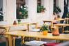 Little German Cafe (freyavev) Tags: benches cafe flowers windows 50mm niftyfifty mikasniftyfifty vases canon canon700d depthoffield germany orange deutschland saxony sachsen königstein saxonswitzerland sächsischeschweiz details