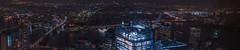 Brooklyn/Lower East Pano (tausigmanova) Tags: panorama pano nikon d3300 manhattan new york city nyc urban skyline night nightphotoraphy world trade wtc freedomtower freedom tower oneworldobservatory longexposure