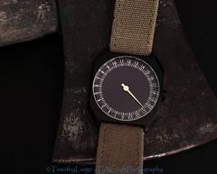 1066 of 1096 (Yr 3) - Slow Jo (Hi, I'm Tim Large) Tags: slow jo watch swiss green strap 24hr single hand sweep 24hour fashion accessory fuji fujinon fujifilm xe1 1855mm xf axe dark