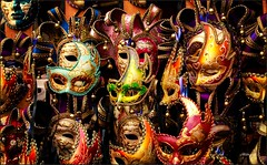 The venetian masks (The Sergeant AGS (A city guy)) Tags: venice italy carlzeisslens carnival masks exploration colors decoration experiment sony walking travelformyjob travelling