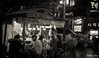 Late night supper (gunman47) Tags: 2016 asia asian b bw hongik korea korean mono monochrome october rok republic seoul sepia south w black candid food hawker hongdae late night people photography rain roadside stall street supper tourist university white 弘大 서울 홍대 southkorea crowd