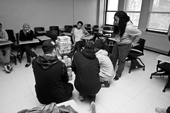 Y'all Better Move That Work (Brotha Kristufar) Tags: youth students monochrome monochromatic blackandwhite closeup wideangle fun activity nyc ny bronx lehmancollege college highschool school learn learning lesson lessons future intellect intelligence smart class classroom indoors indoor explore explored canon 50mm flash views courage city collaborate team teamwork culture cultured art artists artistry