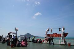 A View From the Upper Deck of Ferry Boat (Arya Vidya Utama) Tags: ferry indonesia boat strait lampung sunda sumatera feri kapal