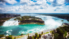 Niagara Falls (aidong_ning) Tags: niagarafalls horseshoefalls americanfalls skylontower niagarariver niagarafallscanada