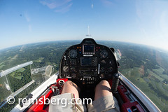 Pilots view of the plane (Remsberg Photos) Tags: usa plane steering legs flight perspective maryland aerial viewpoint pilot nohands harfordcounty