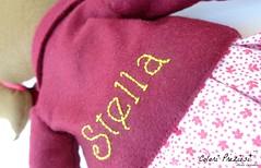 Stella's doll (Colori Preziosi) Tags: stella star diy doll dress lace sewing fabric feltro cuori pizzo tecido stoffa stivaletti tessuto cuoricini feltdoll coloripreziosi feltroepannolenci