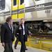 Mauricio Macri recorre talleres de la linea H de subterráneo.-