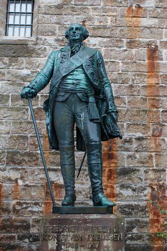 Statue de Frédéric-Guillaume II de Prusse (1786-1797) au château de Hohenzollern