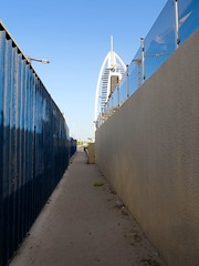 Burj Al Arab, Dubai (Tim Richey) Tags: hot building tower work walking hotel al construction sand dubai uae arab sail burj