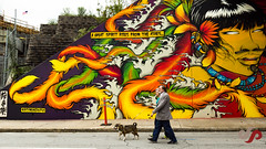 Atlanta Streets Alive-1.jpg (sibingpeter) Tags: street atlanta dog art fall festival wall georgia graffiti couple comic meetup cartoon wallart photowalk oldercouple atlantastreetsalive