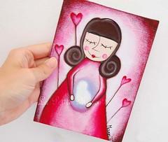 maternità , acrilico su cartone telato