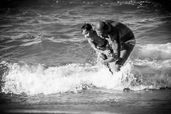 O Negro e o Mar (felipeamaralb) Tags: summer brazil blackandwhite bw praia beach brasil 35mm see mar nikon dad negro son pb vitria vero pretoebranco espritosanto dadandson paiefilho nikkor35mm