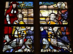 ca. 1560 - 'Jeroom (+1558) and Jacob (Jacques) (+1573) Adornes', Jeruzalemkerk, Brugge, province of West Flanders, Belgium (roelipilami) Tags: church window glass saint james san heraldry jacob jerusalem brugge iglesia kirche sint stained chiesa vitrail armor jerome bruges kneeling jakob jacques armour glise renaissance tabard brujas jeruzalem vitral jacobus jerusalen jeronimo vetrata gerusalemme armadura armure glasraam jeruzalemkerk brgge harnas jeroom donors 1560 hieronymus glasinloodraam tabardo brugia tabar witra  adornes hieronim glasgemlde adorne